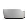 Noir Upholstered Curve Shape Sofa 4