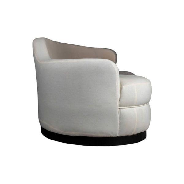 Noir Upholstered Curve Shape Sofa Side View