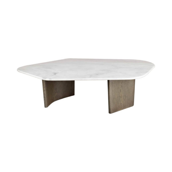 Olney Wooden Gray Marble Coffee Table