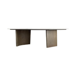 Olney Wooden Gray Marble Coffee Table Front View