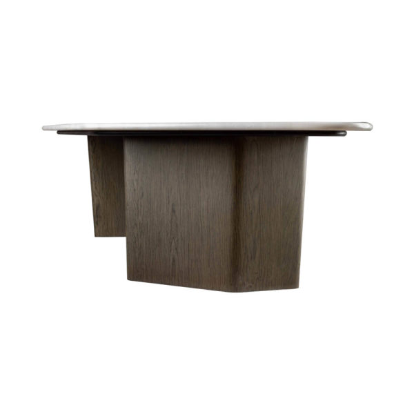 Olney Wooden Gray Marble Coffee Table Right View