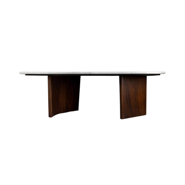 Olney Wooden with Dark Gray Marble Coffee Table