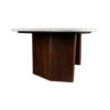 Olney Wooden with Cream Marble Coffee Table 3