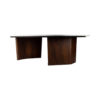 Olney Wooden with Cream Marble Coffee Table 2