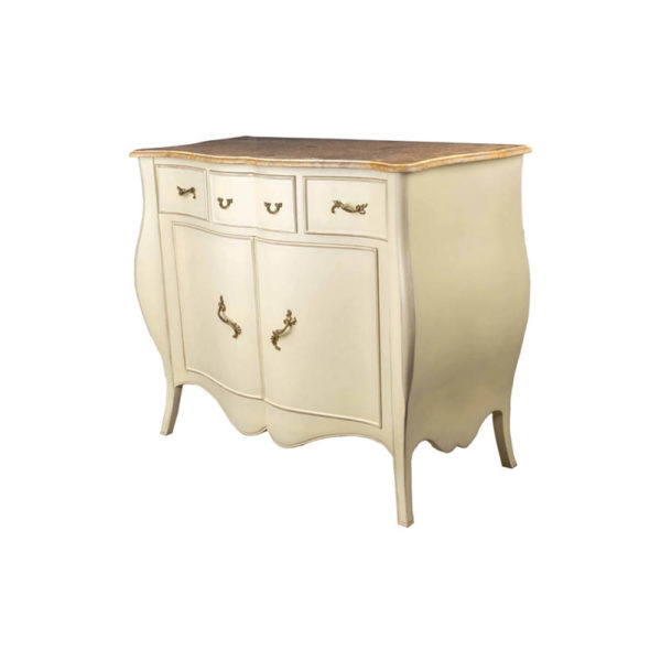 Oslo Cream with Marble Top Sideboard Corner View