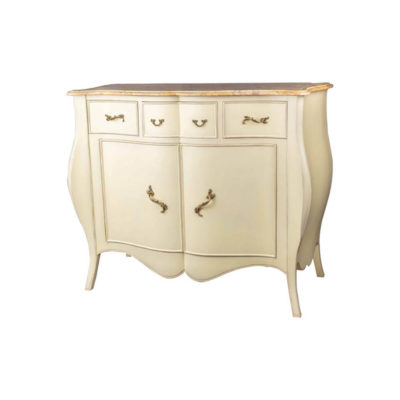 Oslo Cream with Marble Top Sideboard Side View
