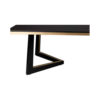 Rion Dark Brown Wood and Brass Coffee Table 8