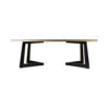 Rion Dark Brown Wood and Brass Coffee Table 7