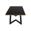 Rion Dark Brown Wood and Brass Coffee Table 6