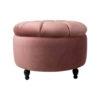 Sara Round Blush Pink Pouf 4