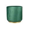 Verona Round Velvet Green Pouf with Brass Base 2