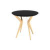Wellington Black Side Table with Golden Legs 2
