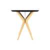 Wellington Black Side Table with Golden Legs 5