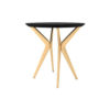 Wellington Black Side Table with Golden Legs 4