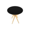 Wellington Black Side Table with Golden Legs 6