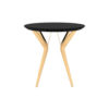 Wellington Black Side Table with Golden Legs 1