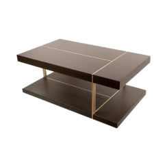 Wimbledon Wooden with Brass Coffee Table UK