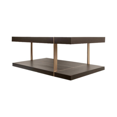 Wimbledon Wooden with Brass Coffee Table UK Corner