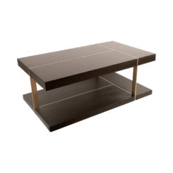 Wimbledon Wooden with Brass Coffee Table UK View