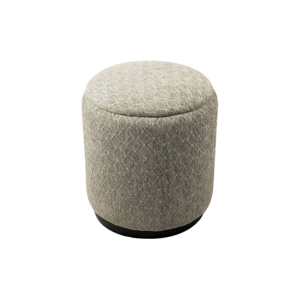 Yulia Round Patterned Pouf Top
