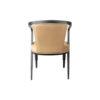 Zaria Beige Velvet Dining Chair with Armrest 8