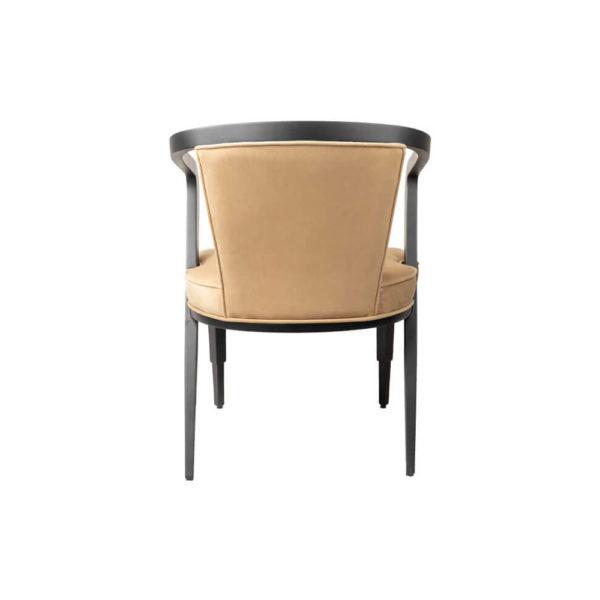 Zaria Beige Velvet Dining Chair with Armrest Back