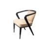Zaria Beige Velvet Dining Chair with Armrest 6