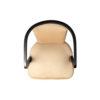 Zaria Beige Velvet Dining Chair with Armrest 3