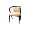 Zaria Beige Velvet Dining Chair with Armrest 2