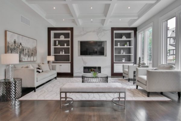 Grey Chair and Sofa