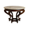 Bentley Antique Round Dining Table with Curved Legs 1