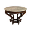Bentley Antique Round Dining Table with Curved Legs 2