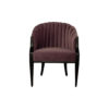 Bogo Upholstered Striped Armchair with Black Legs 1