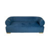 Clare 3 Seaters Blue Velvet Sofa with Brass Inlay 1