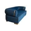 Clare 3 Seaters Blue Velvet Sofa with Brass Inlay 3