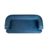 Clare 3 Seaters Blue Velvet Sofa with Brass Inlay 4