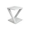 Claremont Oak Gray Z Shaped Side Table 1