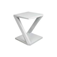 Claremont Oak Gray Z Shaped Side Table