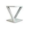 Claremont Oak Gray Z Shaped Side Table 2