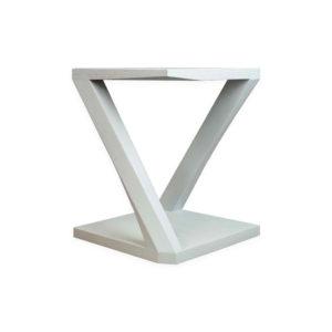 Claremont Oak Gray Z Shaped Side Table Corner