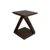 Claremont Z Shaped Brown Walnut Side Table 1