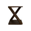 Claremont Z Shaped Brown Walnut Side Table 2