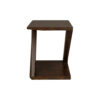 Claremont Z Shaped Brown Walnut Side Table 3