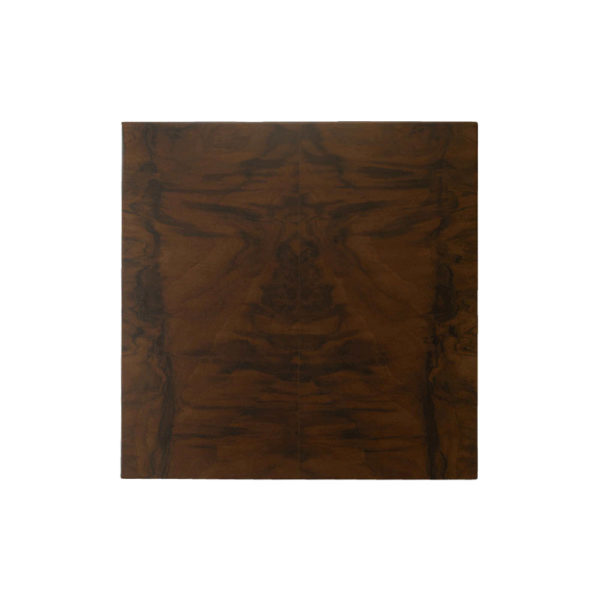 Claremont Z Shaped Brown Walnut Side Table Top