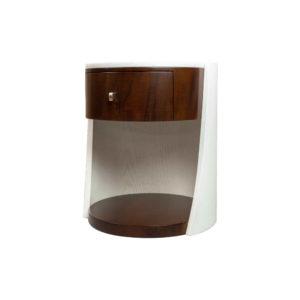 Corndell Cream White Contemporary Bedside Table