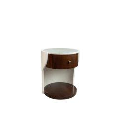 Corndell Cream White Small Bedside Table