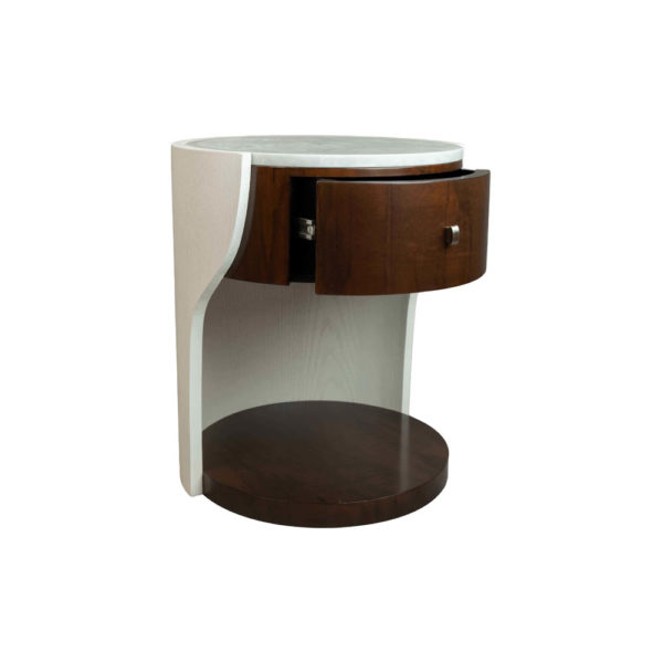 Corndell Cream White Small Bedside Table Drawer