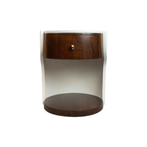 Corndell Cream White Small Bedside Table Front