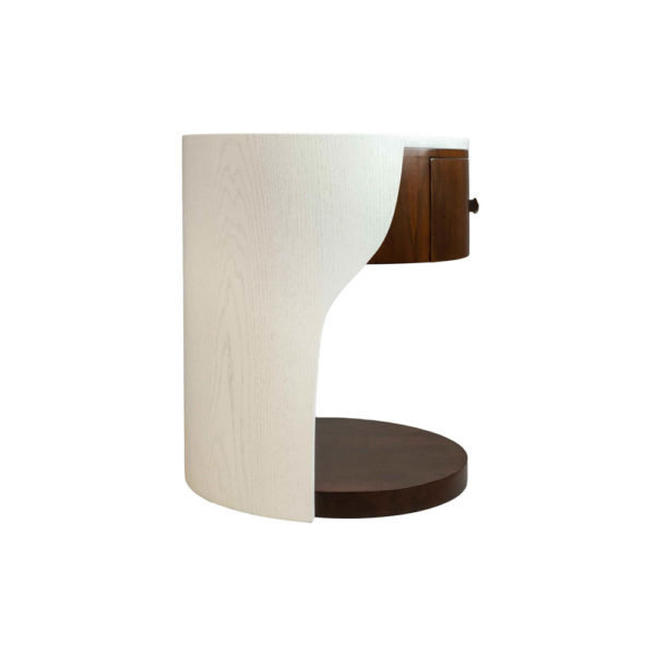 Corndell Cream White Small Bedside Table Side