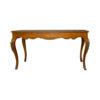 Hari Rectangular Wood Dining Table with Brass Inlay 1